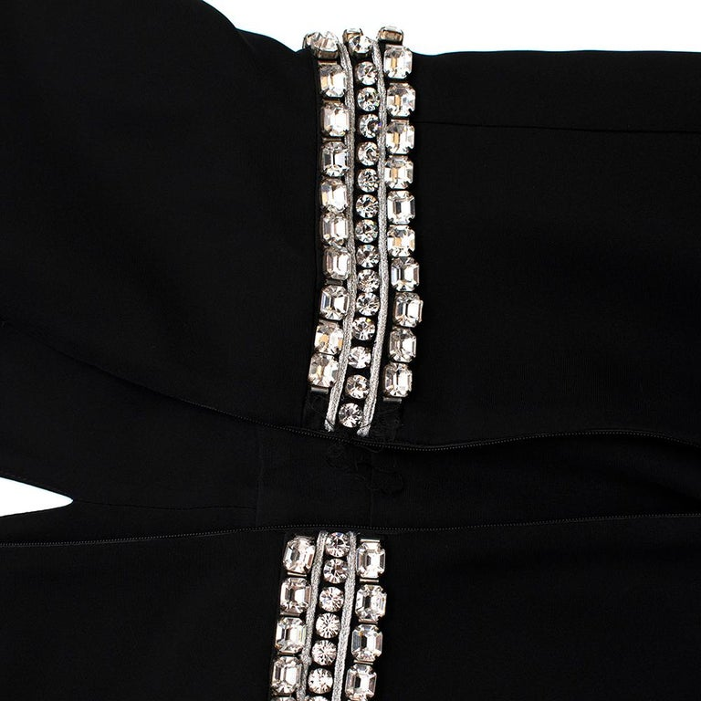 Women's or Men's Gucci Black Sleeveless Crystal Embellished Gown - Size US 2 For Sale