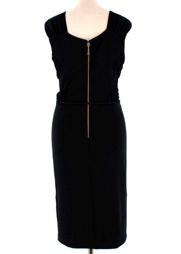 Gucci Black Sleeveless Dress With Rope Belt - Size M In Excellent Condition For Sale In London, GB