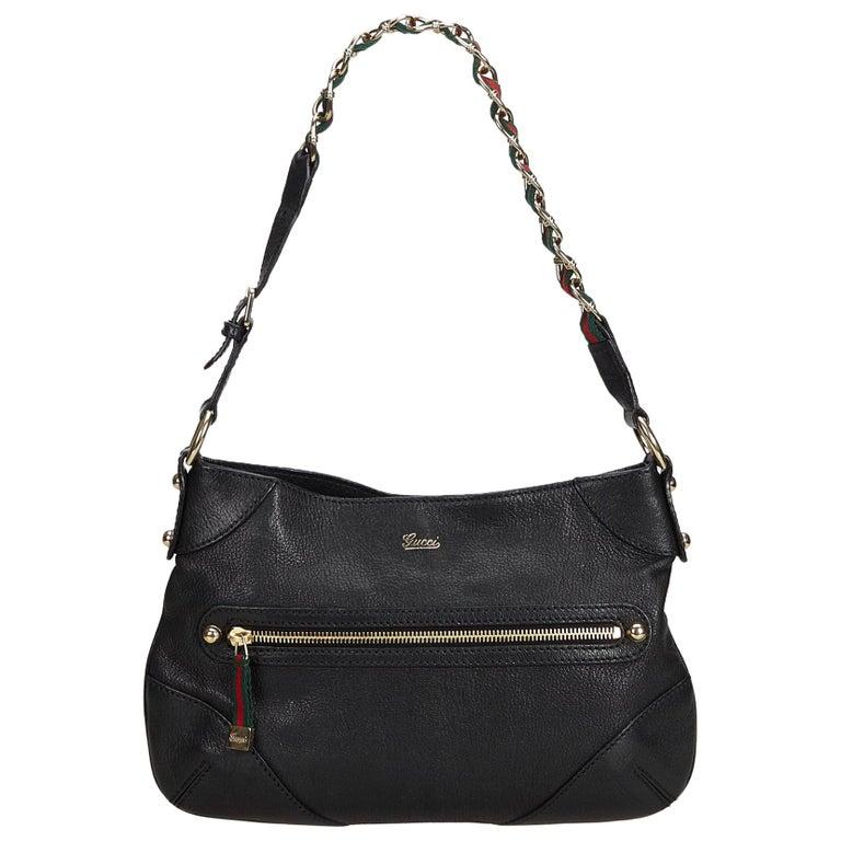 955869e680e Gucci Black Small Capri Shoulder Bag at 1stdibs