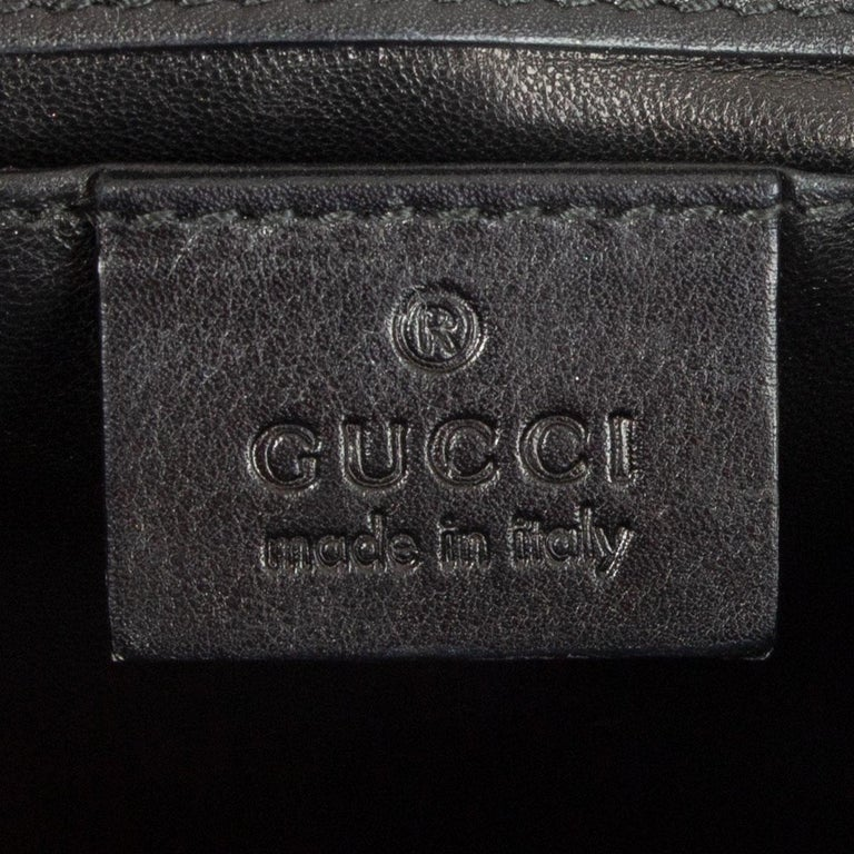 GUCCI black smooth leather EMILY SMALL CHAIN Shoulder Bag 2