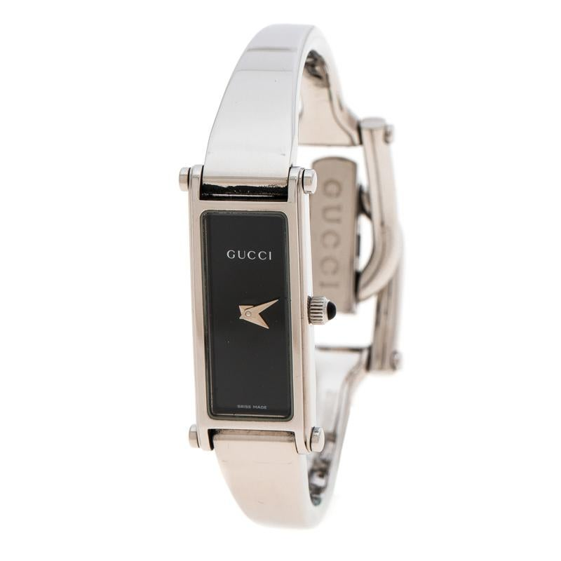 88a39a091854e0 Gucci Black Stainless Steel 3900L Women s Wristwatch 12 mm For Sale at  1stdibs