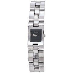 Gucci Black Stainless Steel 2305L Women's Wristwatch 17 MM