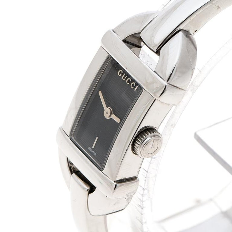 64514612740 ... Watches. Gucci Black Stainless Steel 6800L Women s Wristwatch 16 mm For  Sale. From the 6800L series