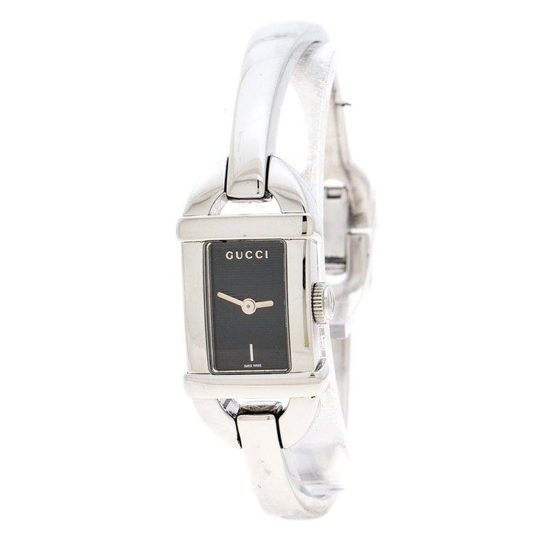 40cb4e6478d Gucci Black Stainless Steel 6800L Women s Wristwatch 16 mm For Sale ...