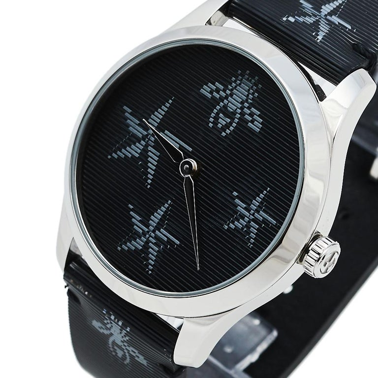 Gucci Black Stainless Steel Bee G-Timeless YA1264105 Women's Wristwatch 38 mm  1