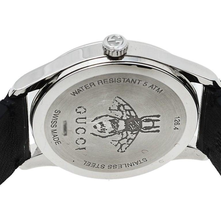 Gucci Black Stainless Steel Bee G-Timeless YA1264105 Women's Wristwatch 38 mm  2