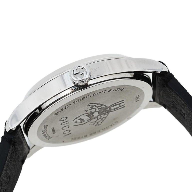 Gucci Black Stainless Steel Bee G-Timeless YA1264105 Women's Wristwatch 38 mm  3