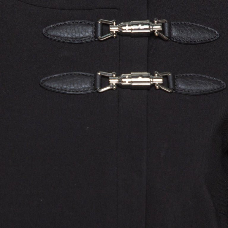 Women's Gucci Black Stretch Jersey Buckle Detail Sheath Dress M