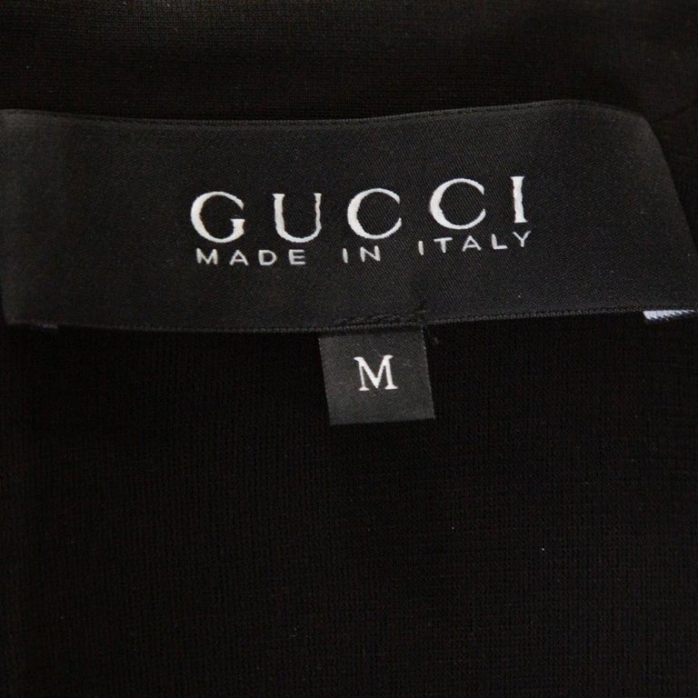 Gucci Black Stretch Jersey Buckle Detail Sheath Dress M 2