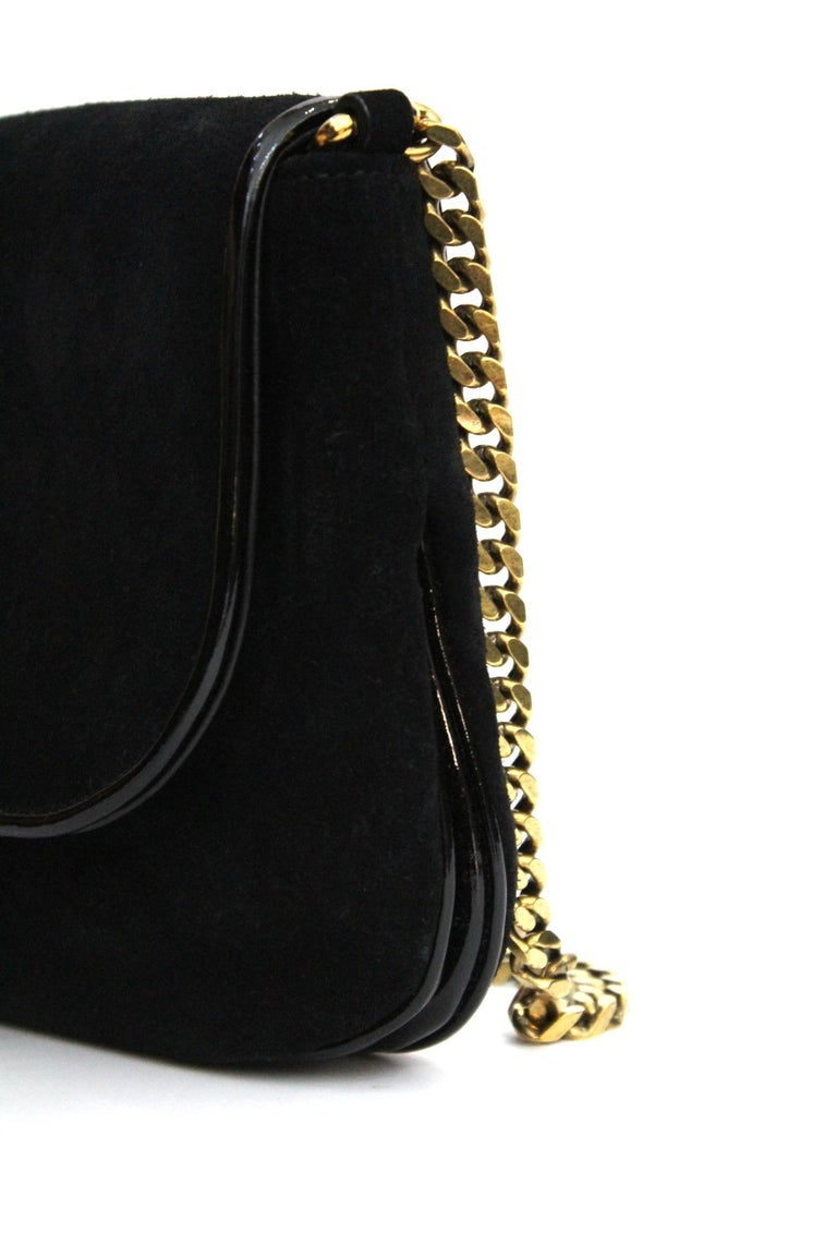 99f1afac754c83 Gucci Black Suede Shoulder Bag In Excellent Condition For Sale In Torre Del  Greco, IT