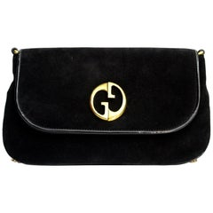 Gucci Black Suede Shoulder Bag