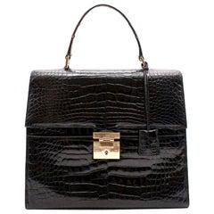 Gucci Black Top Handle Bag