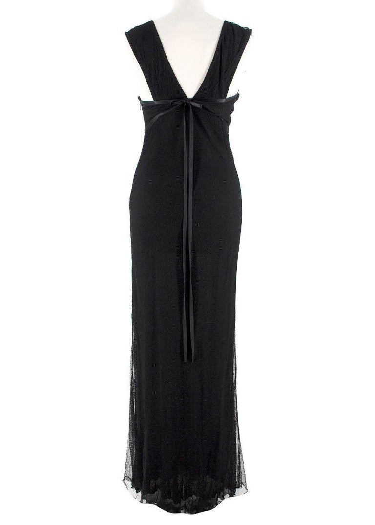 Black Gucci black-tulle gown - Size US 4 For Sale