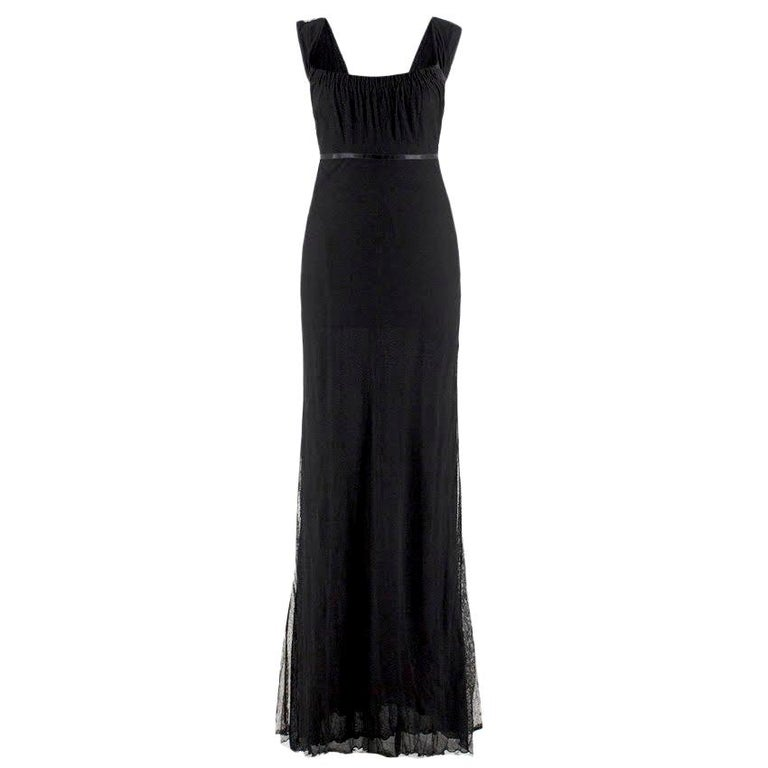Gucci black-tulle gown - Size US 4 For Sale