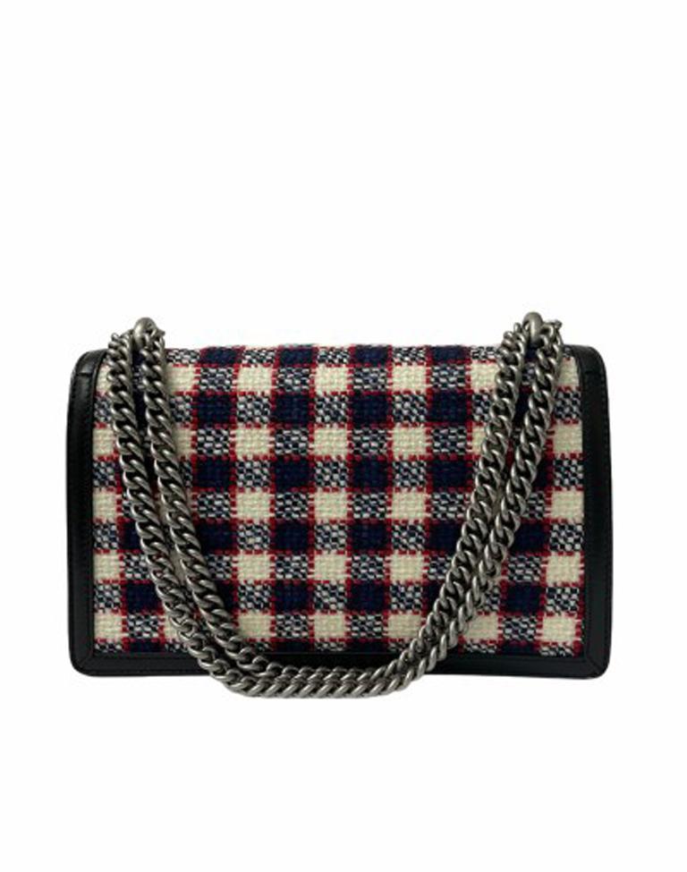 Women's Gucci Black Tweed Dionysus Shoulder Bag  For Sale
