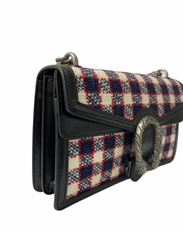 Gucci Black Tweed Dionysus Shoulder Bag  For Sale 1