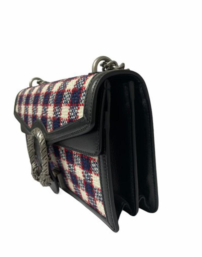 Gucci Black Tweed Dionysus Shoulder Bag  For Sale 2