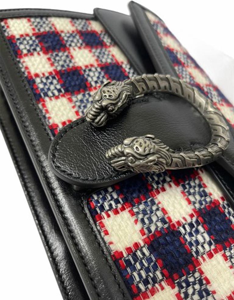 Gucci Black Tweed Dionysus Shoulder Bag  For Sale 3