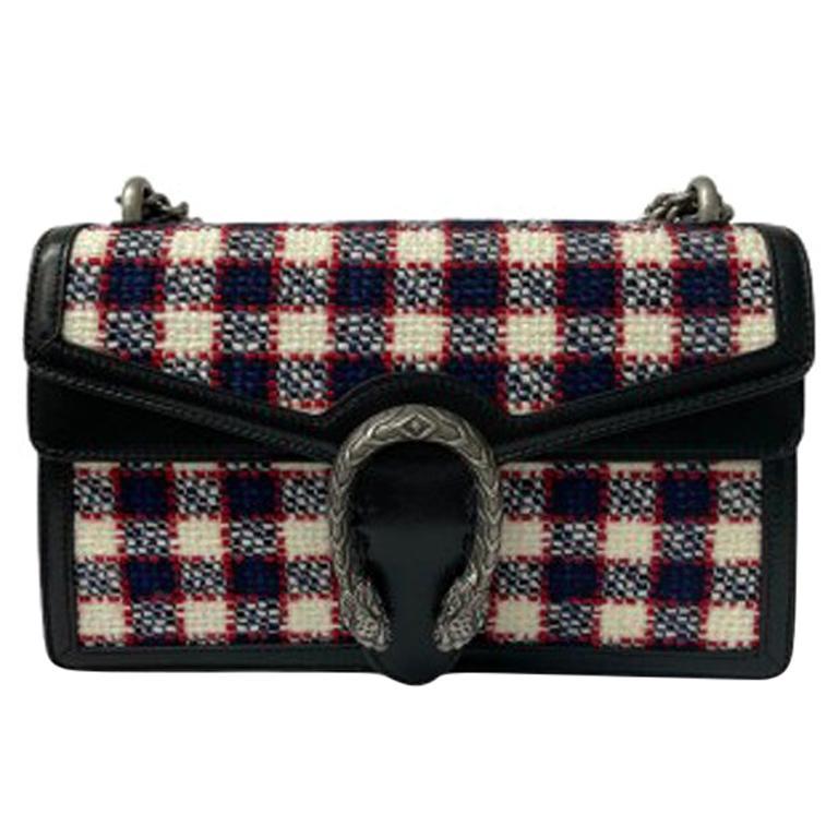 Gucci Black Tweed Dionysus Shoulder Bag  For Sale