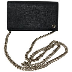 Gucci Black Wallet On A Chain Bag