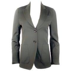 Gucci Black Wool Blazer Jacket Size 40