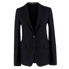 Gucci Black Wool & Cashmere-blend Blazer IT42