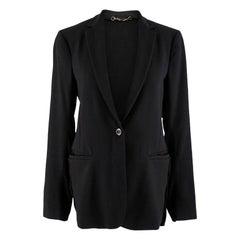 Gucci Black Wool Insert Single Breasted Blazer - Size US 6