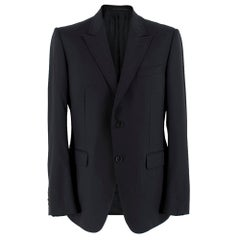 Gucci Black Wool Single Breasted Blazer SIZE 52 R
