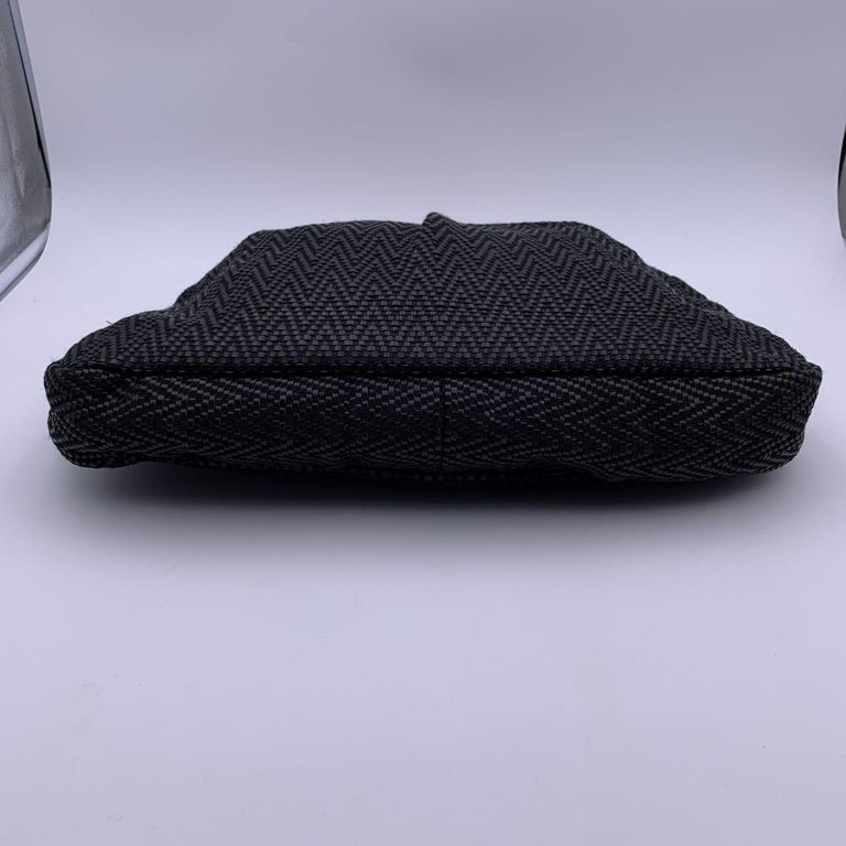 Gucci Black Woven Leather Bamboo Studded Tote Bag Handbag For Sale 1