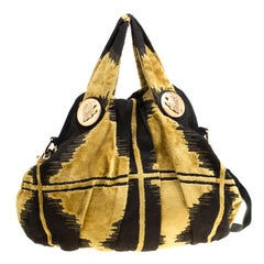 Gucci Black/Yellow Fabric Large Hysteria Hobo