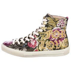 Gucci Blind For Love Floral-Embroidered High-Top Sneakers