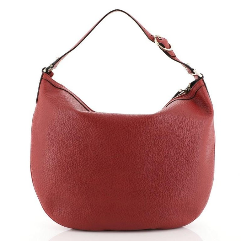 Gucci Blondie Web Hobo Leather Large In Good Condition For Sale In New York, NY