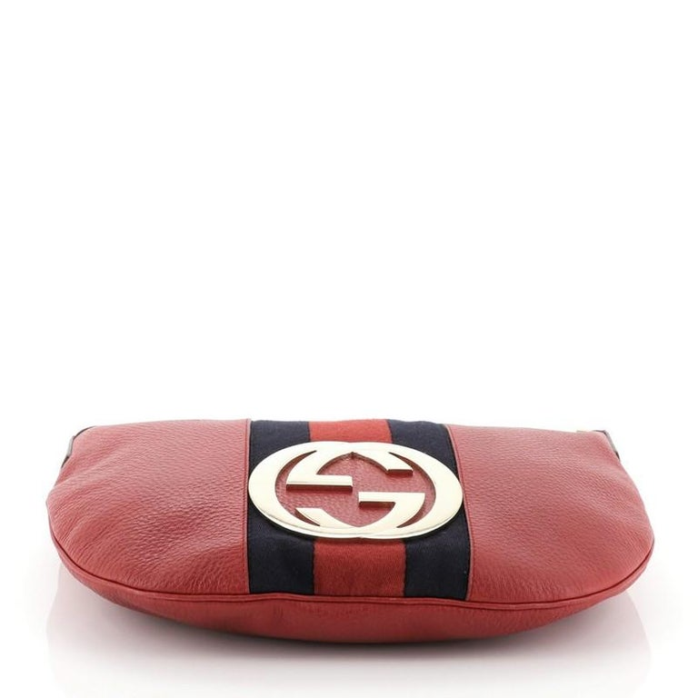 Women's Gucci Blondie Web Hobo Leather Large For Sale