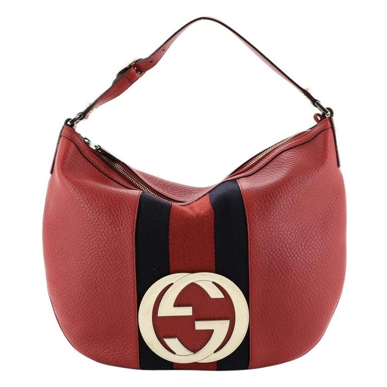 Gucci Blondie Web Hobo Leather Large For Sale
