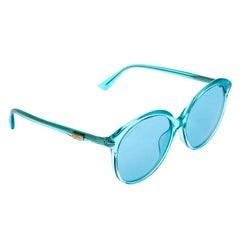 Gucci Blue Acetate GG0257SA Oversized Round Sunglasses