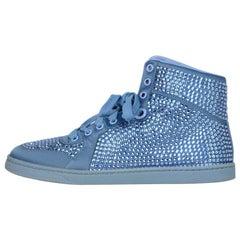Gucci Blue Coda Crystal Hi Tops Sneakers sz 37.5