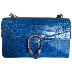 Gucci Blue Crocodile Dyonisus Bag