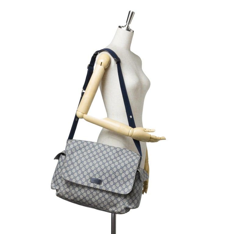 20a477d68c9ca4 Gucci Blue GG Plus Diaper Bag For Sale 3