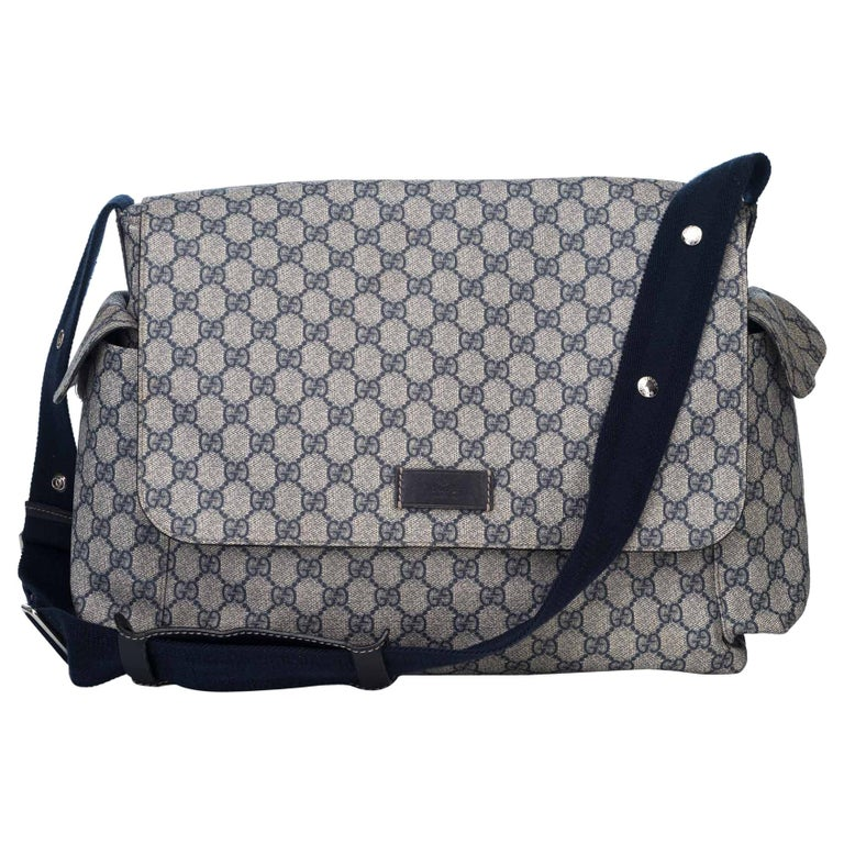 dc762a6d1b66e9 Gucci Blue GG Plus Diaper Bag at 1stdibs
