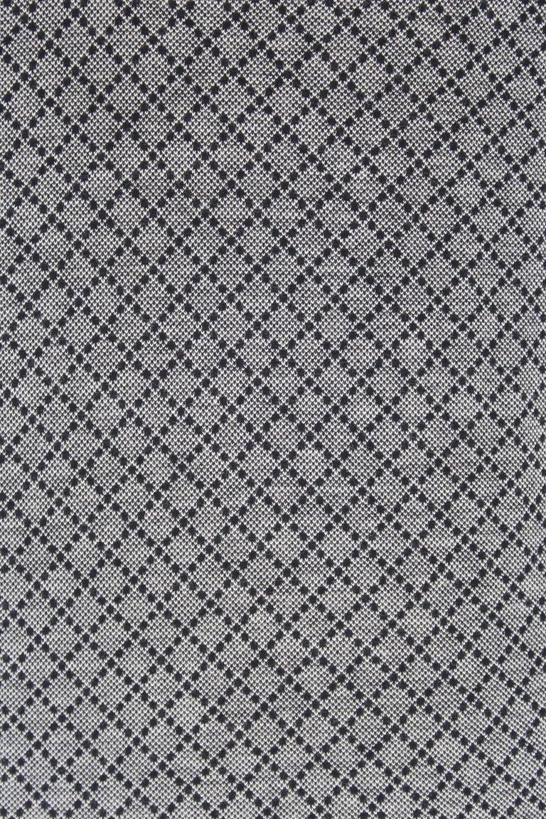 Gucci Blue Gray Cotton Check Polo Shirt 2000s  For Sale 3