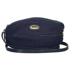 Gucci Blue Guccissima Jacquard Crossbody Bag