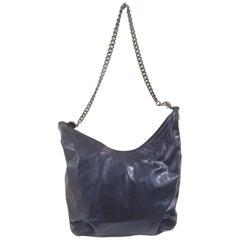 Gucci blue leather silver hardware Shoulder bag