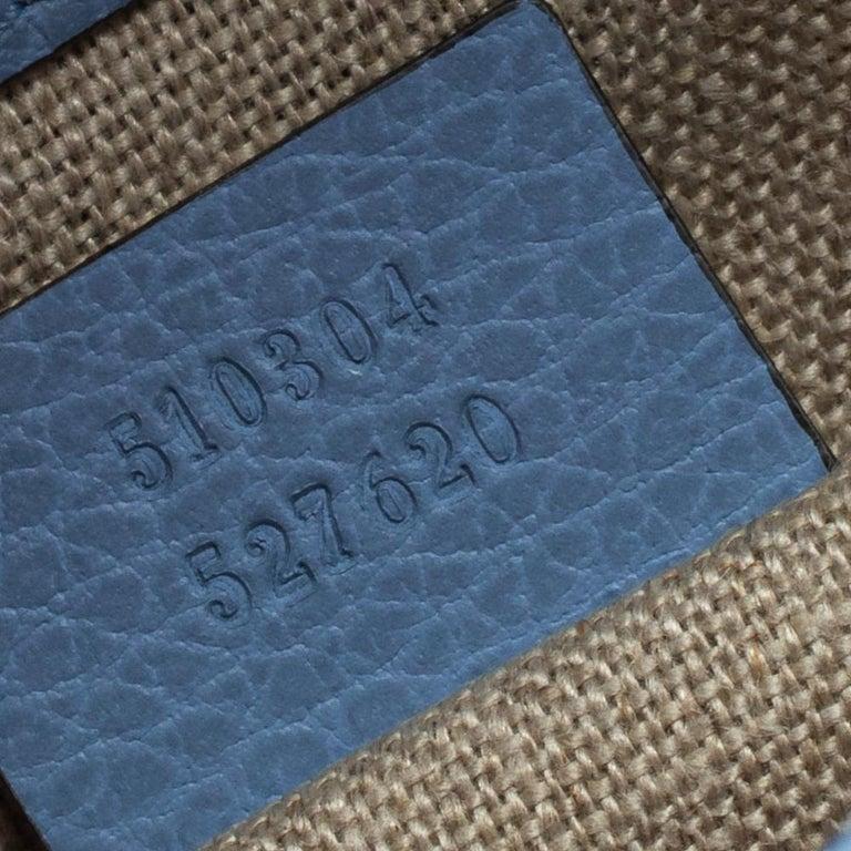 Gucci Blue Leather Small Interlocking G Crossbody Bag 6