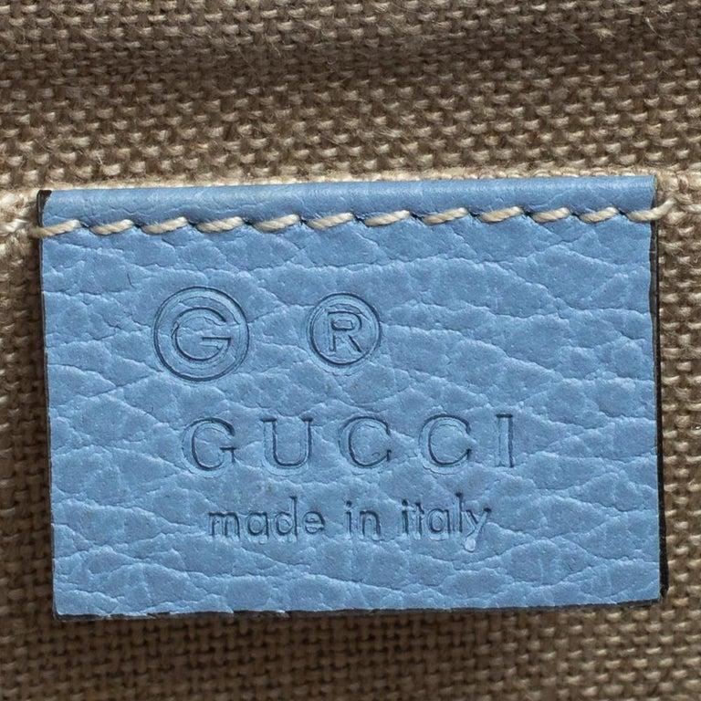 Gucci Blue Leather Small Interlocking G Crossbody Bag 7