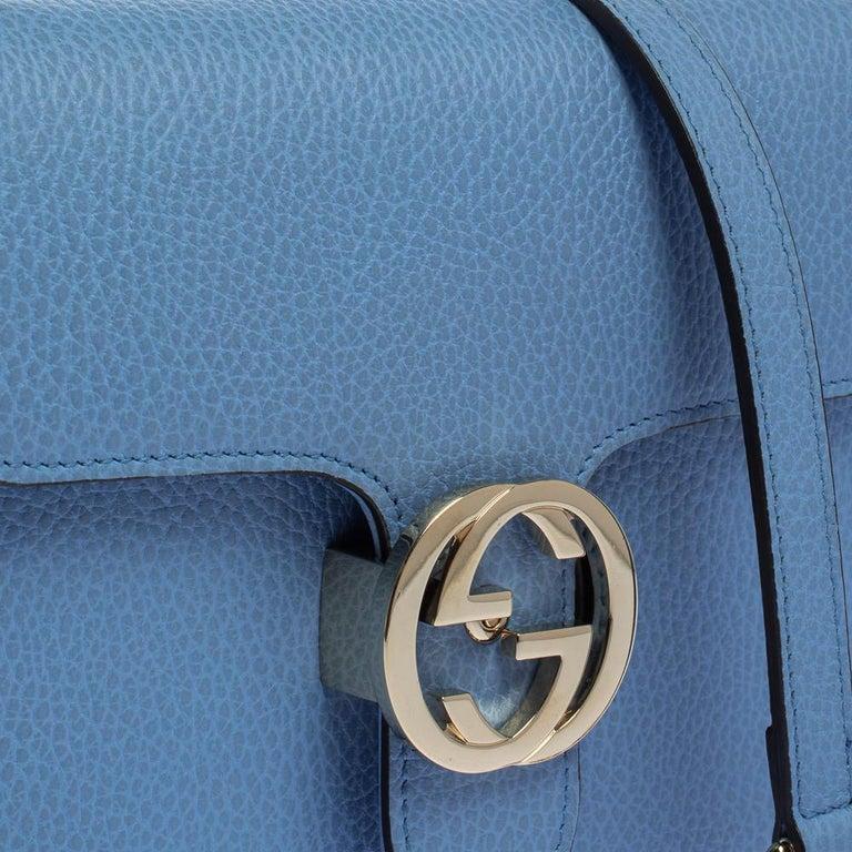 Gucci Blue Leather Small Interlocking G Crossbody Bag 8
