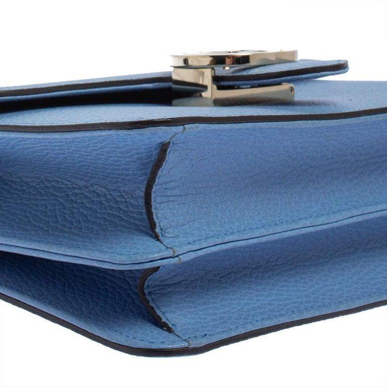 Gucci Blue Leather Small Interlocking G Crossbody Bag 2