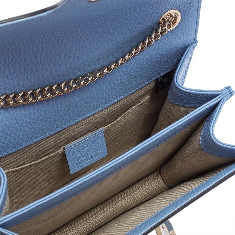 Gucci Blue Leather Small Interlocking G Crossbody Bag 4