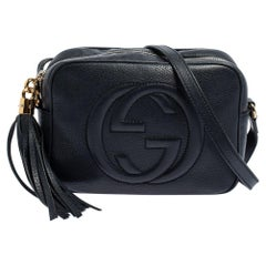 Gucci Blue Leather Soho Disco Crossbody Bag