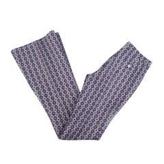 Gucci Blue & Purple Jacquard Wool Flared Trousers