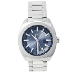 Gucci Blue Stainless Steel GG2570 YA142303 Men's Wristwatch 40 mm